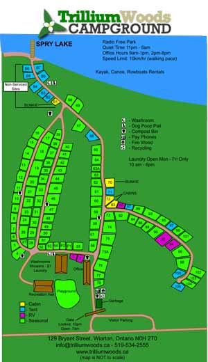 Trillium Woods Campground Map